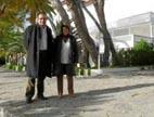 El gerente de Inestur, Antoni Oliver, con la regidora Margalida Llompart