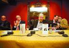 Barriuso, flanqueado de i. a d. por Munguía, Méndez Pozo, Gómez Barahona y Castaño Clavero